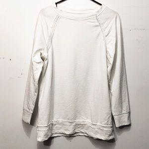 Lou & Grey White Sweatshirt